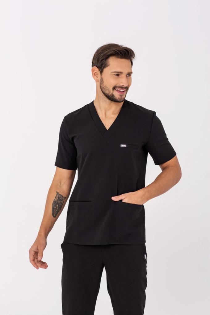 Bluza medyczna czarna